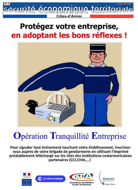 Affiche Opération Tranquilité Entreprises